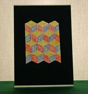 Easy-paper-crafts-faux-stained-glass-baby-block-quilt-pattern