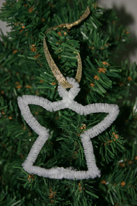Easy-Christmas-Crafts-Snow-Angel-ribbon-on-tree
