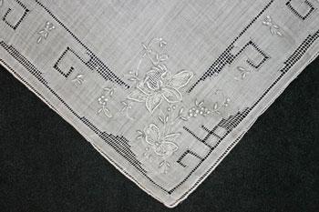 Handmade hankerchief detail