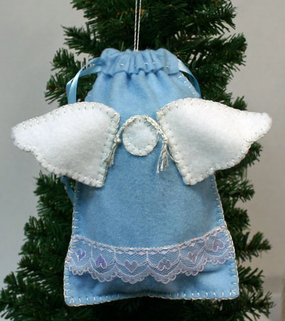 Angel Gift Bag hanging on tree
