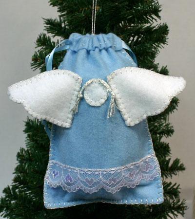 Angel Gift Bag hanging on tree