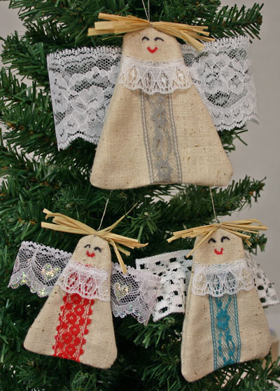 Angel Trio hanging on tree