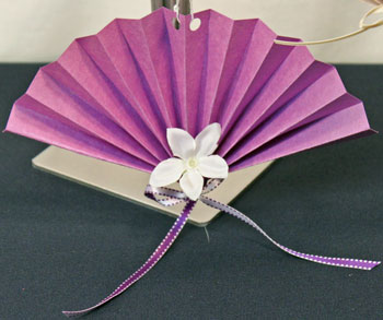 Easy Christmas Crafts Construction Paper Fan Ornament purple