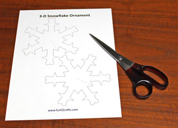 3D Paper Snowflake materials and tools