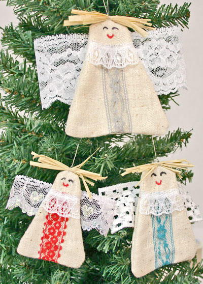 Easy Angel Crafts Angel Trio hanging on tree