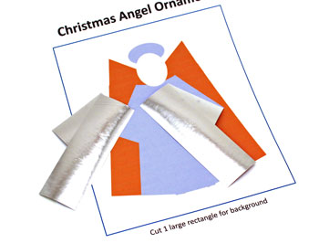 Christmas Angel Ornament step 3 glue arms behind outer robe