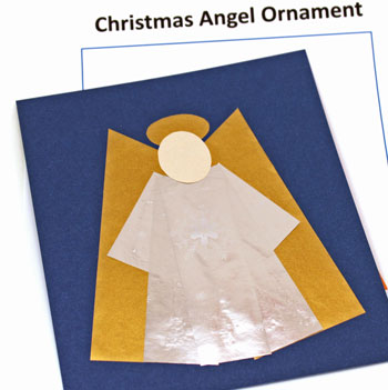 Christmas Angel Ornament step 7 glue face over body