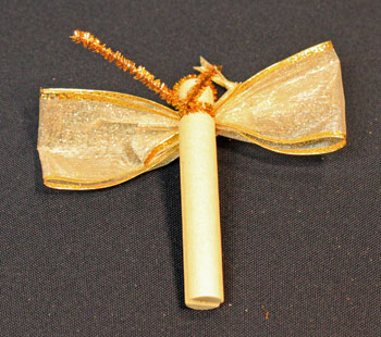 Easy Angel Crafts Clothespin Angel Ornament step 7 wrap wire around clothespin