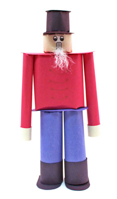 Construction Paper Nutcracker Doll