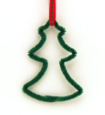 Easy Christmas Crafts Chenille Stem Christmas Tree step 11 hang the little tree