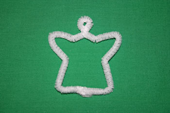 Easy Christmas crafts snow angel open shape