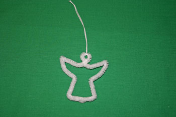 Easy Christmas crafts snow angel angel with yarn