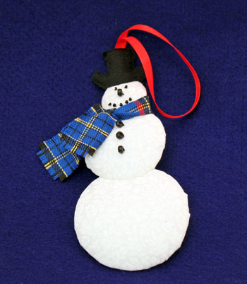 Easy Christmas Crafts Snowman step 23 finished snowman ornament