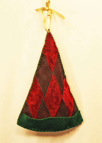 Woven Ribbon Christmas Tree