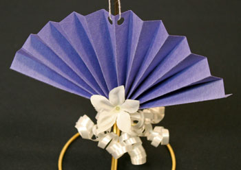 Construction Paper Fan Ornament