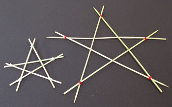 Easy Christmas Crafts Five Point Wooden Star showing two finished