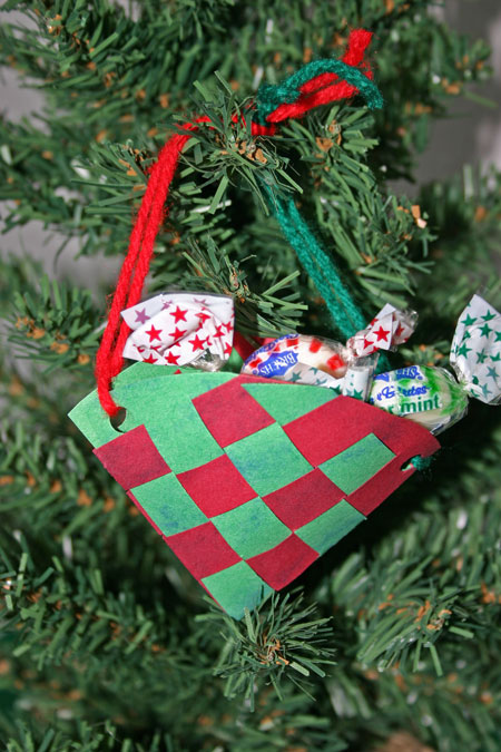 Paper Basket Cone Ornament