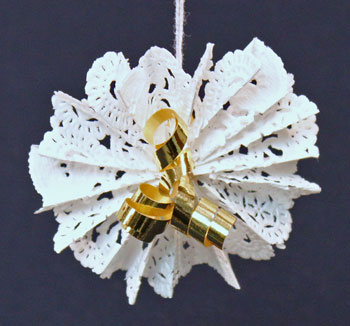 Paper Doily Flower Ornament