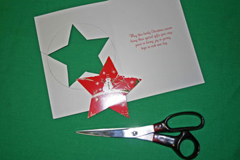 Easy Christmas crafts five point star cut out star