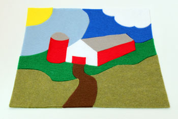 Easy Felt Crafts Farm Puzzle finished and together