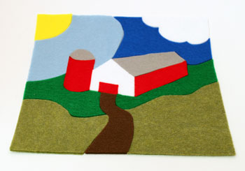 Easy Felt Crafts Farm Puzzle finished and put together