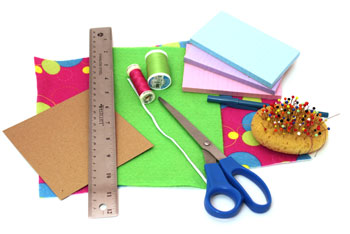 Easy Felt Crafts Notepad Cover2 materials and tools