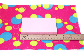 Easy Felt Crafts Notepad Cover2 step 1 measure length