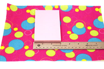 Easy Felt Crafts Notepad Cover2 step 2 measure width