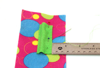 Easy Felt Crafts Notepad Cover2 step 8 reposition pocket