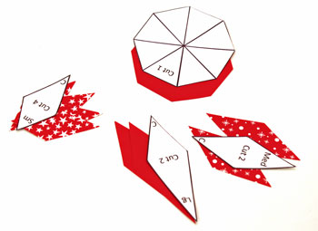 Easy Paper Crafts 8 Point Star step 1 print pattern and cut out shapes