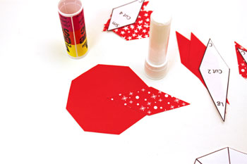 Easy Paper Crafts 8 Point Star step 3 glue first point