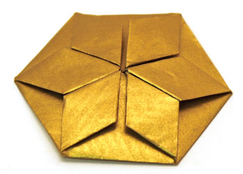 Easy Paper Crafts Six Point Star gold with all points folded