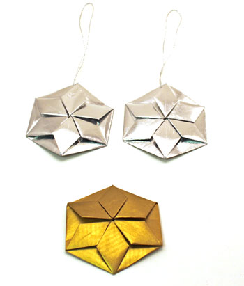Easy Paper Crafts Six-Point Stars from folded hexagons