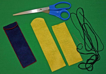 Easy felt crafts pen pencil holder step 1