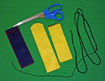 Easy felt crafts pen pencil holder step 2