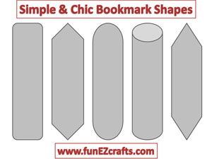 Easy paper crafts bookmark shapes