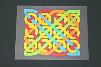 Easy paper crafts celtic design 12 circles add final row