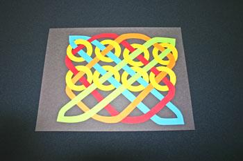 Easy paper crafts celtic design 12 circles add second row