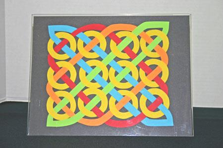Easy paper crafts celtic design 12 yellow circles complete