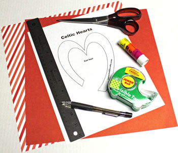 Easy paper crafts celtic desing celtic heart knot materials and tools