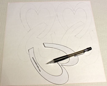 Easy Paper Crafts Celtic Designs Celtic Heart Knot step 2 transfer the design to the paper