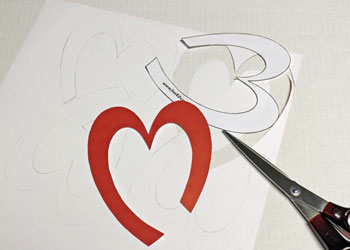 Easy Paper Crafts Celtic Designs Celtic Heart Knot step 3 cut out the designs