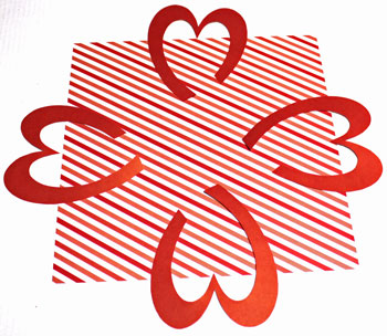 Easy Paper Crafts Celtic Designs Celtic Heart Knot step 4 position shapes opposite each other