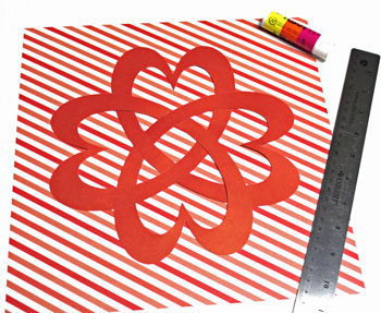 Easy paper crafts celtic designs celtic heart knot step 8 glue to background