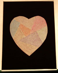 Easy paper crafts faux stained glass heart backlit