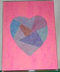 Easy paper crafts faux stained glass heart