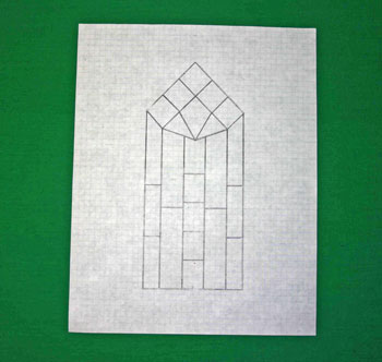 Easy paper crafts faux stained glass window pattern up