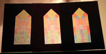Easy paper crafts faux stained glass three framed backlit