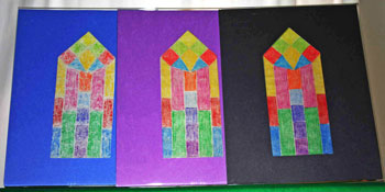 Easy paper crafts faux stained glass three framed