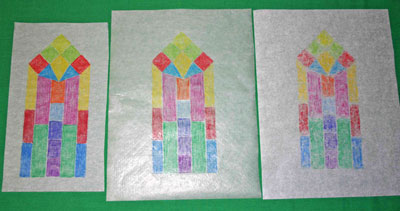 Easy paper crafts faux stained glass three papers